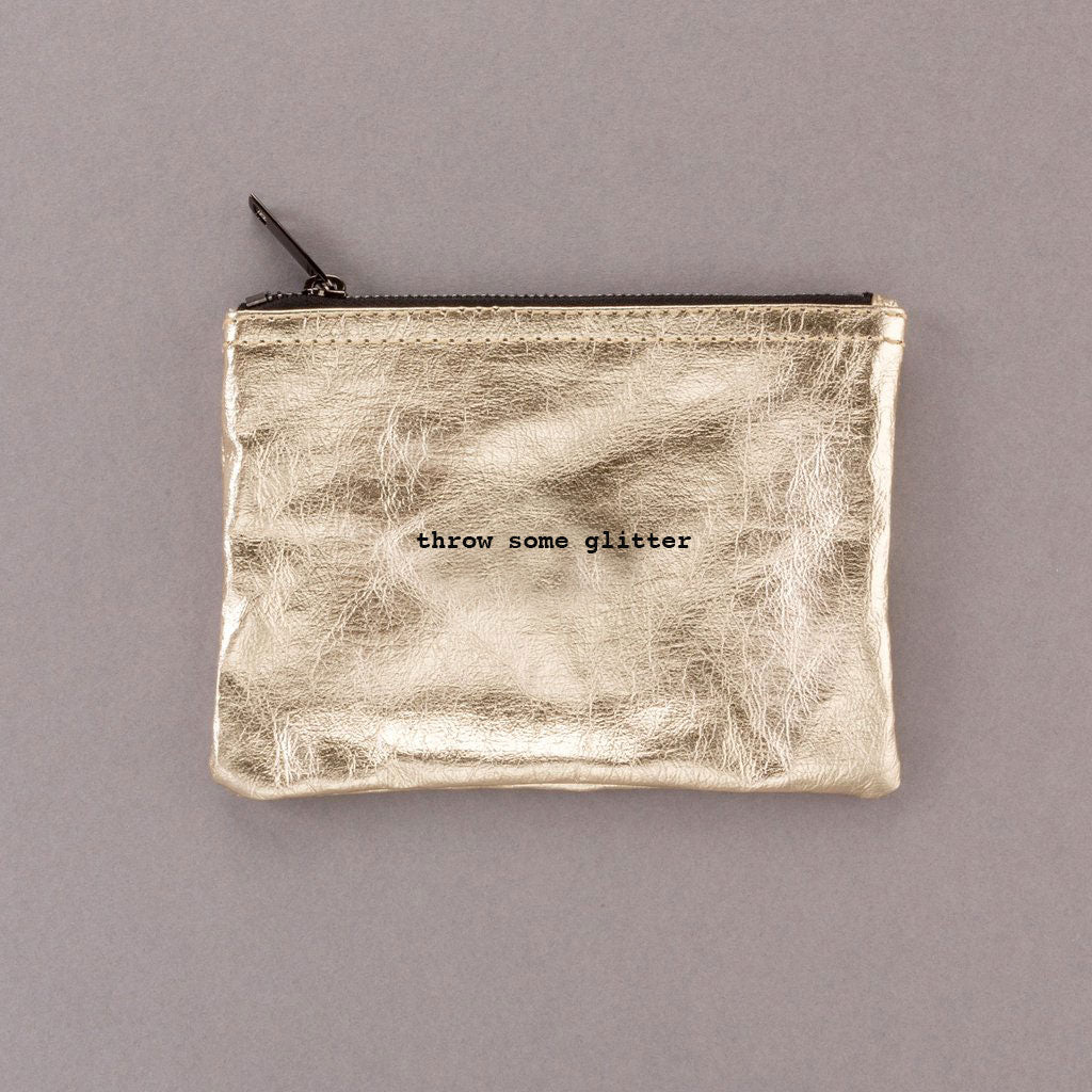 Throw Some Glitter - Gold Pouch