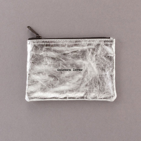 Unicorn Lover - Silver Pouch