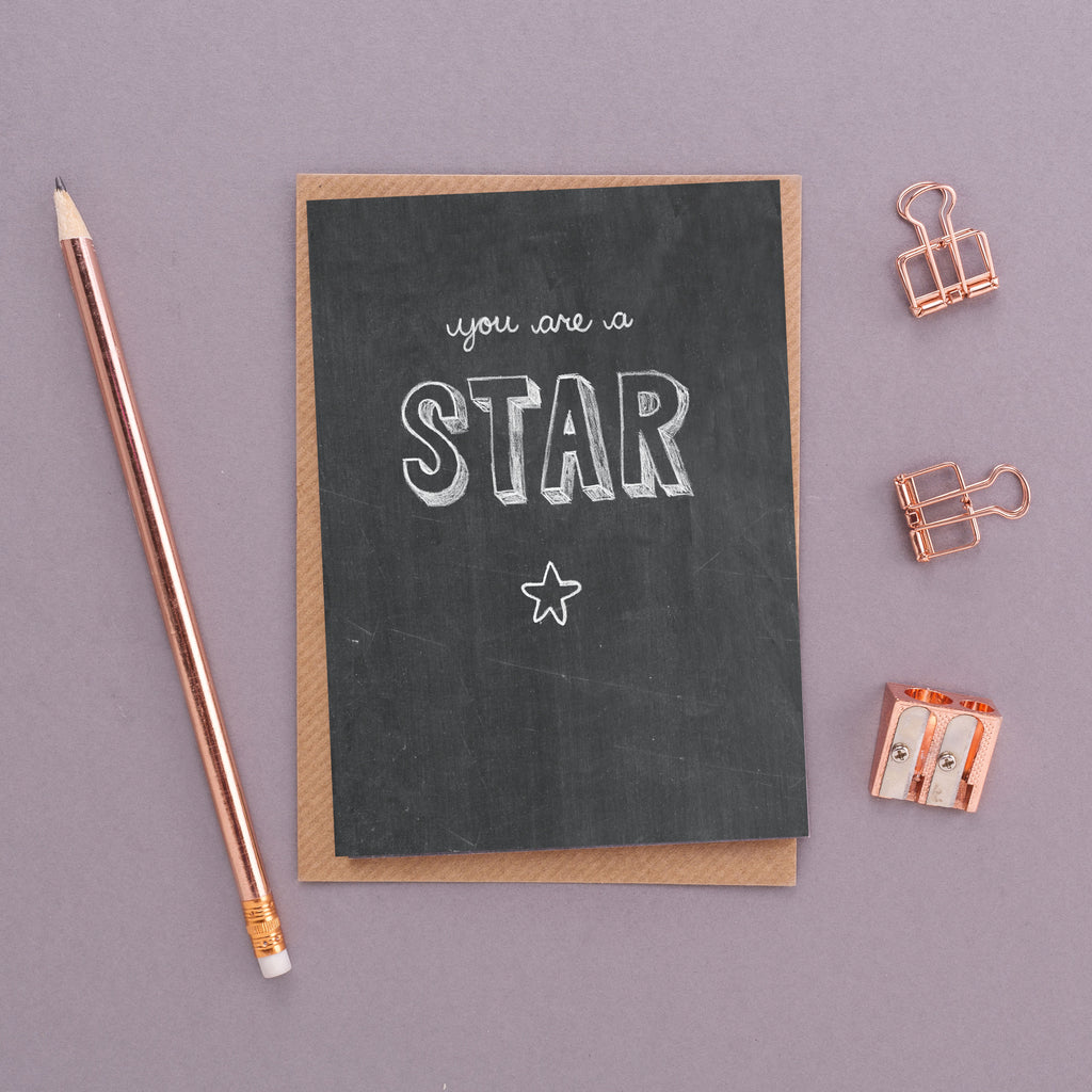 You Are a Star Chalkboard Card