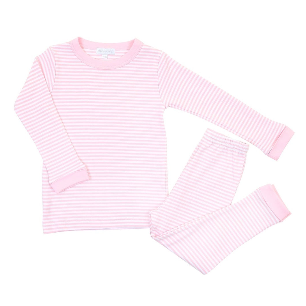 Magnolia Baby Essentials stripe pajamas- pink
