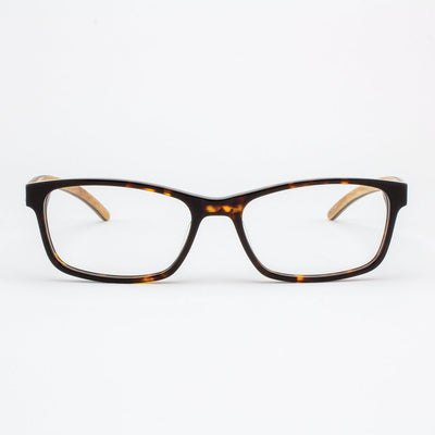 Island Skye tortoise shell acetate and wood eyeglasses