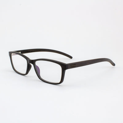 Lee adjustable ebony wood prescription ready eyeglass temples