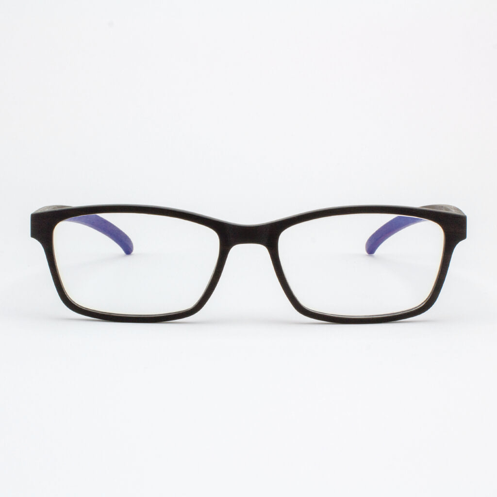 Lee adjustable ebony wood prescription ready eyeglasses