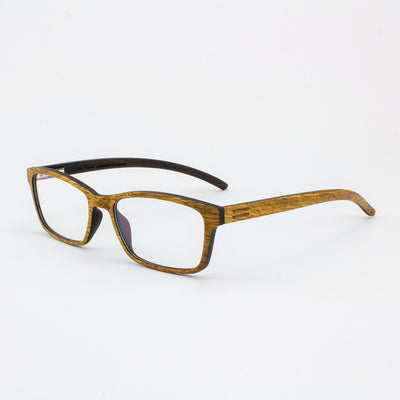 Lee adjustable pear wood prescription ready eyeglass temples