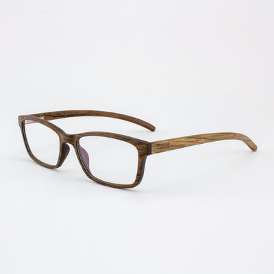 Lee adjustable walnut wood prescription ready eyeglass temples