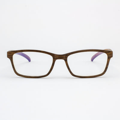Lee adjustable walnut wood prescription ready eyeglasses