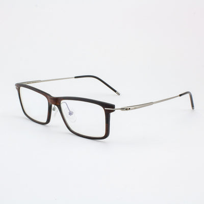 Prescription ready, lightweight titanium & Ebony Wood eyeglass temples