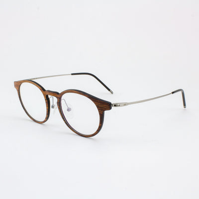 Marion featherlight titanium and rosewood eyeglass temples