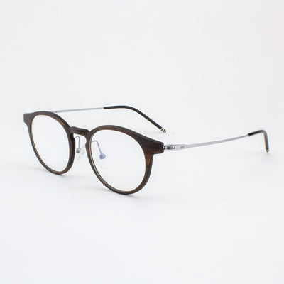 Marion featherlight titanium and ebony eyeglass and temples