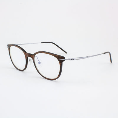 Pinellas lightweight titanium & ebony wood eyeglass temples