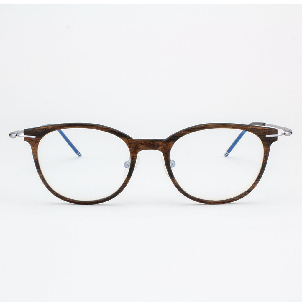 Pinellas lightweight titanium & ebony wood eyeglasses