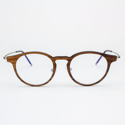 Marion featherlight titanium and rosewood eyeglasses