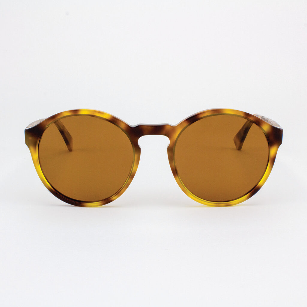 961311fadcf3 Oversized round tortoise shell acetate   wood sunglasses