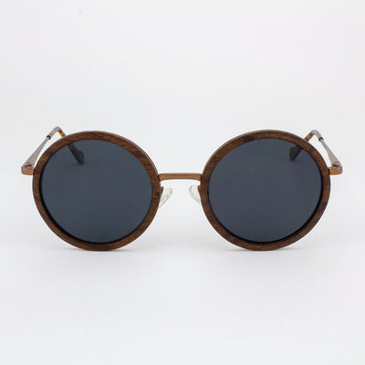Largo matted gold metal wood sunglasses
