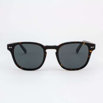 Pinecrest Island Skye dark tortoise shell acetate & wood sunglasses