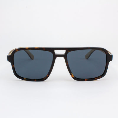 Rockledge Island Skye dark tortoise shell acetate and wood sunglasses