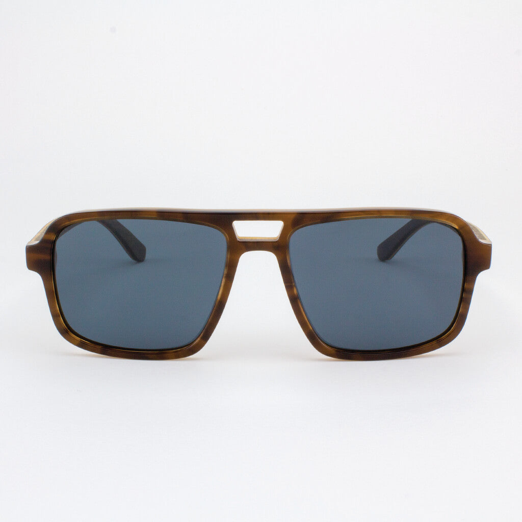 Rockledge tobacco tortoise shell acetate and wood sunglasses