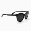 Biscayne Piano Black Acetate and wood sunglasses side view