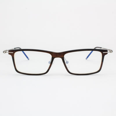 Prescription ready, lightweight titanium & Ebony Wood eyeglasses