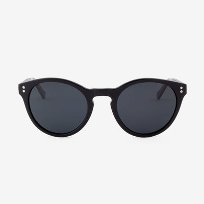 Davie Piano Black Acetate and wood sunglasses