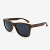 Delray walnut burl adjustable wood sunglass temples
