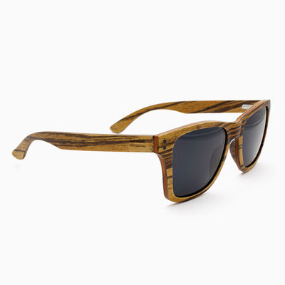 Delray adjustable wood sunglass temples