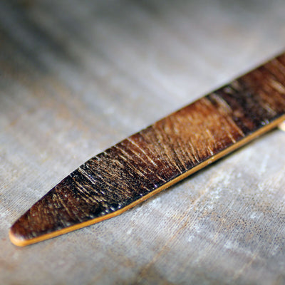 Wood Collar Stays - Eucalyptus