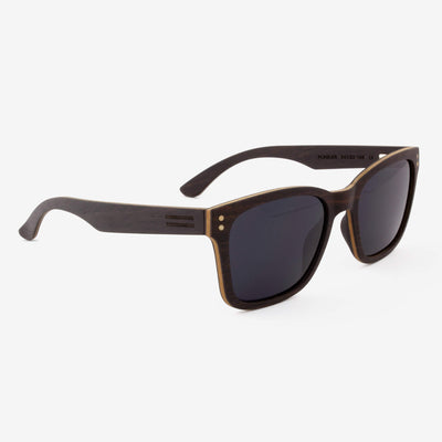Flagler ebony adjustable wood sunglass temples