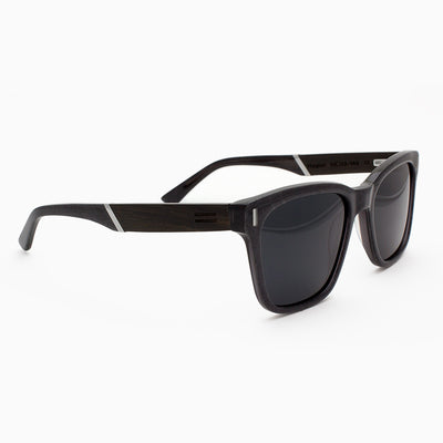 Flagler Metallic Fiber Acetate and wood sunglasses with ebony temples