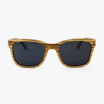 Flagler zebrawood adjustable wood sunglasses