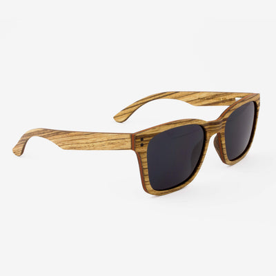 Flagler zebrawood adjustable wood sunglass temples