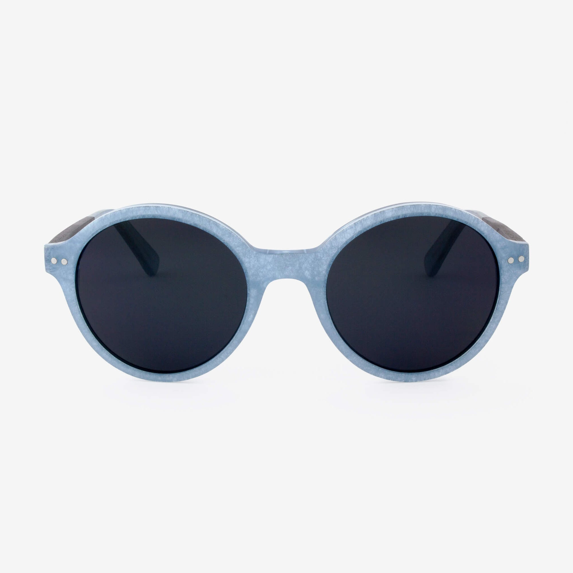 Gables light blue metallic fiber acetate and wood sunglasses