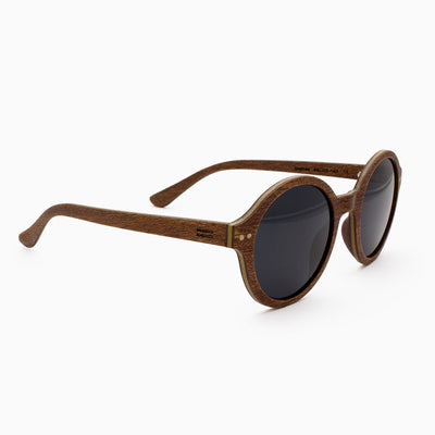 Gables sapele adjustable wood sunglass temples with polarized lenses