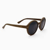 Gables walnut adjustable wood sunglass temples with polarized lenses