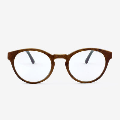 Holmes Red Camphor Burl adjustable wooden eyeglasses