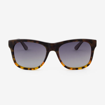 Juno smoke tortoise shell acetate and wood sunglasses
