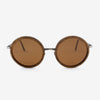 Largo black walnut and brushed metal wood sunglasses