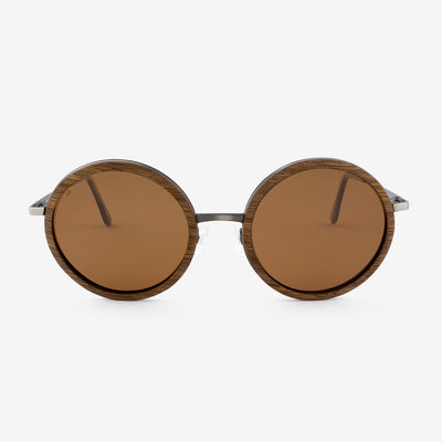 Largo black walnut and brushed metal wooden sunglasses