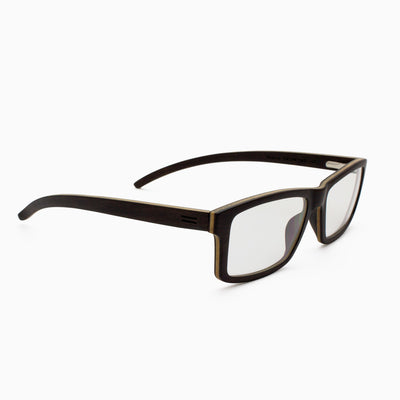 Marco ebony adjustable wood eyeglasses, prescription ready