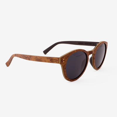 Nassau burl adjustable wood sunglass temples