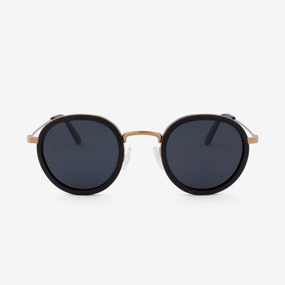 Pasco rose gold titanium ebony wood sunglasses