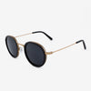 Pasco rose gold titanium ebony wood sunglasses side view