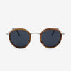 Pasco silver lightweight titanium and rosewood rimmed sunglasses