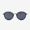 Richey black lightweight titanium & ebony wood sunglasses