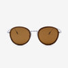Richey silver lightweight titanium & walnut wood sunglasses