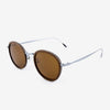 Richey silver lightweight titanium & walnut wood sunglass temples