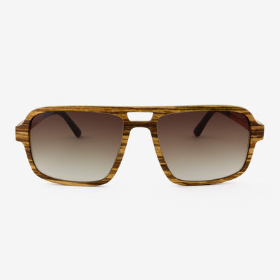 Rockledge zebra wood adjustable wood sunglasses
