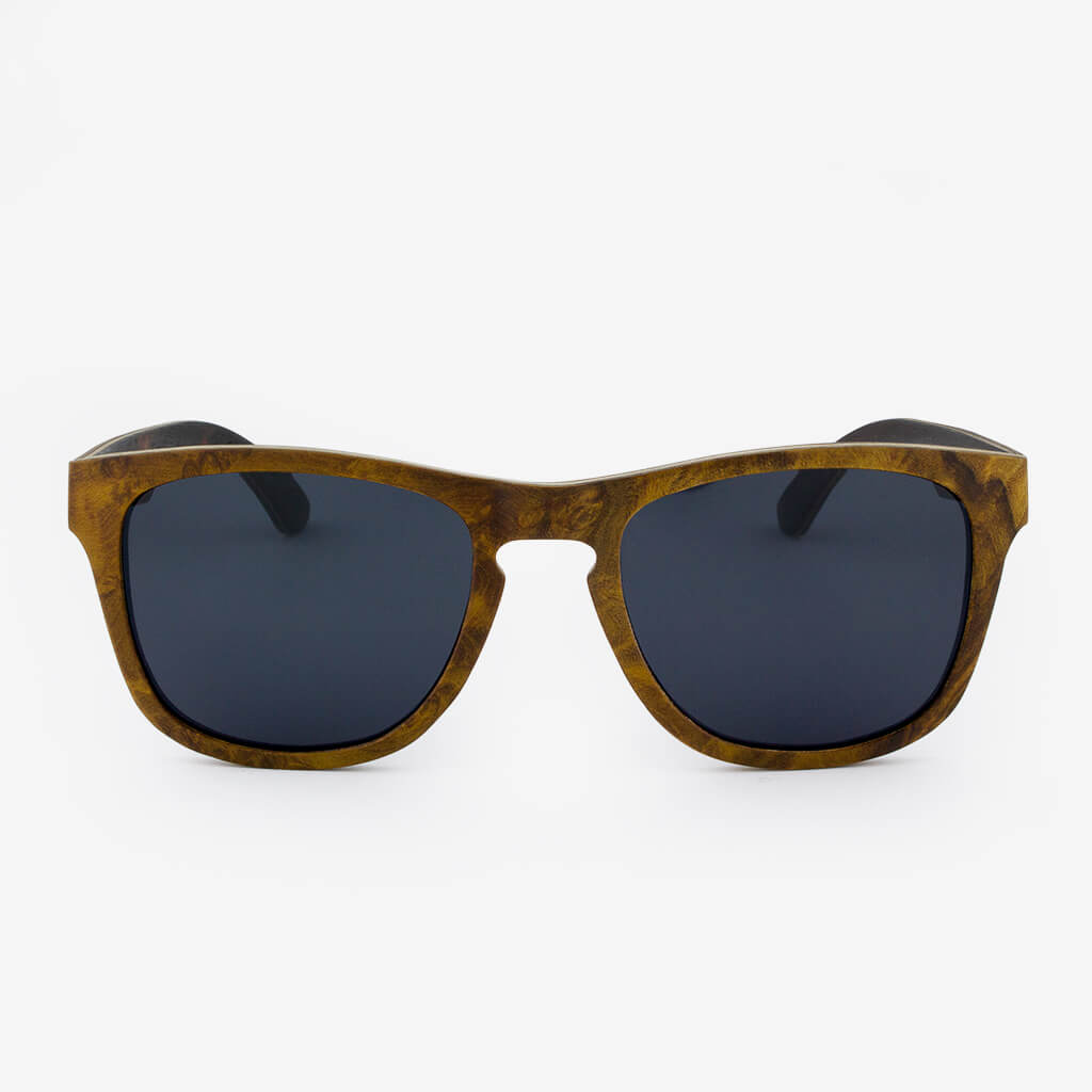 Sanibel Gold Camphor Burl adjustable wood sunglasses