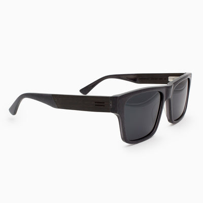 Sebastian metallic fiber acetate and wood sunglasses with ebony temples