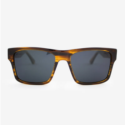 Sebastian streaming light acetate and wood sunglasses with walnut temples